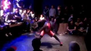 B-BOY中毒 1on1 予選 ZAKAO aka kill power vs Shin