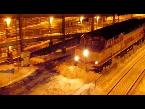 Thumbnail: MBTA Train Plowing Snow! Awesome! (Canton Junction 3/8/13)
