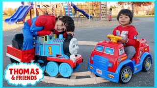 PLAYGROUND FUN Thomas and Friends Paw Patrol POWER WHEELS Race Family Fun Playtime Park Thomas Train