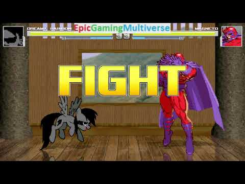 Magneto VS Dreamy Rainbow On The Hardest Difficulty In A MUGEN Match / Battle / Fight
