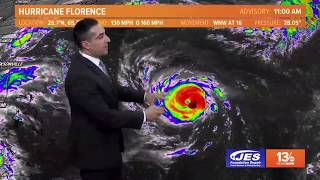 Tropics Update: Tracking Hurricane Florence, Tuesday, September 11, 2018