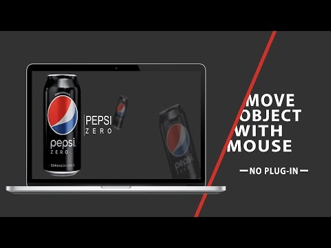 Move Object With Mouse | No Plug-In | CSS - JQUERY Tutorial