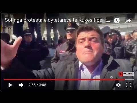 Sot nga protesta e qytetareve te Kukesit per tarifen e larte per Rrugen e Kombit.