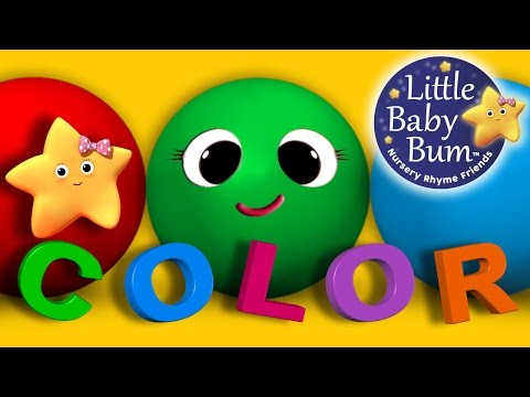 Learn Colors & Objects Song   Children's Nursery Rhymes   by LittleBabyBum!