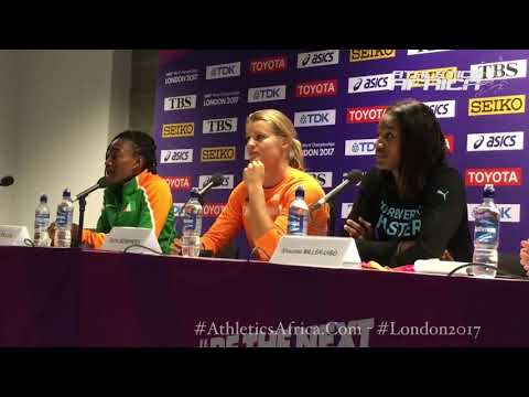 Silver medal for my country (CIV) and Africa - Marie-Josee Ta Lou | Dafne Schippers - London 2017