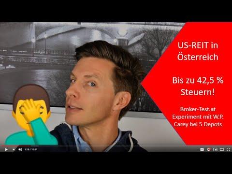 US-REIT Dividende bzw. Ausschüttung in Österreich: Die Gebühren & Steuern bei 5 Online Brokern