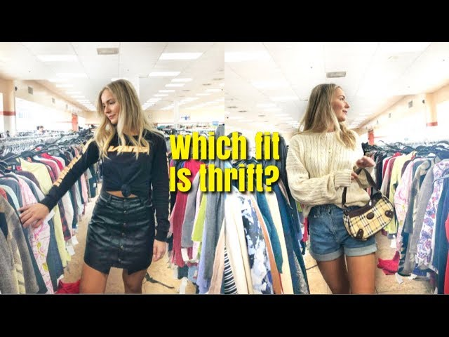 THRIFT WITH ME: How I style thrifted outfits ☆
