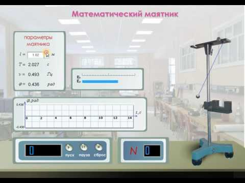 Определение ускорения свободного падения с помощью математического маятника