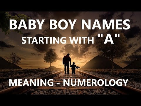 Baby Boy Names Starting With