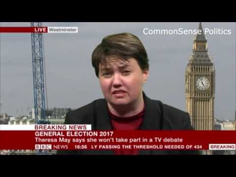 Ruth Davidson can't stop laughing at the SNP