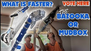 Is a Bazooka faster than a Mud Box or Banjo Taping in Drywall