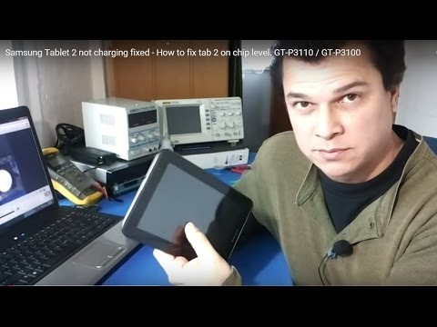 Samsung Tablet 2 not charging, turns off, fixed - How to fix tab on chip level. GT-P3100 / GT-P3110