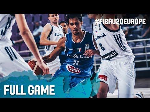 Slovenia v Italy - Full Game - Classification 13-14 - FIBA U20 European Championship 2017