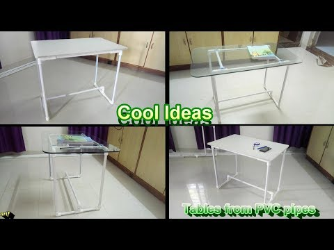 Table from PVC pipes: DIY
