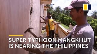 Super Typhoon Mangkhut is nearing the Philippines