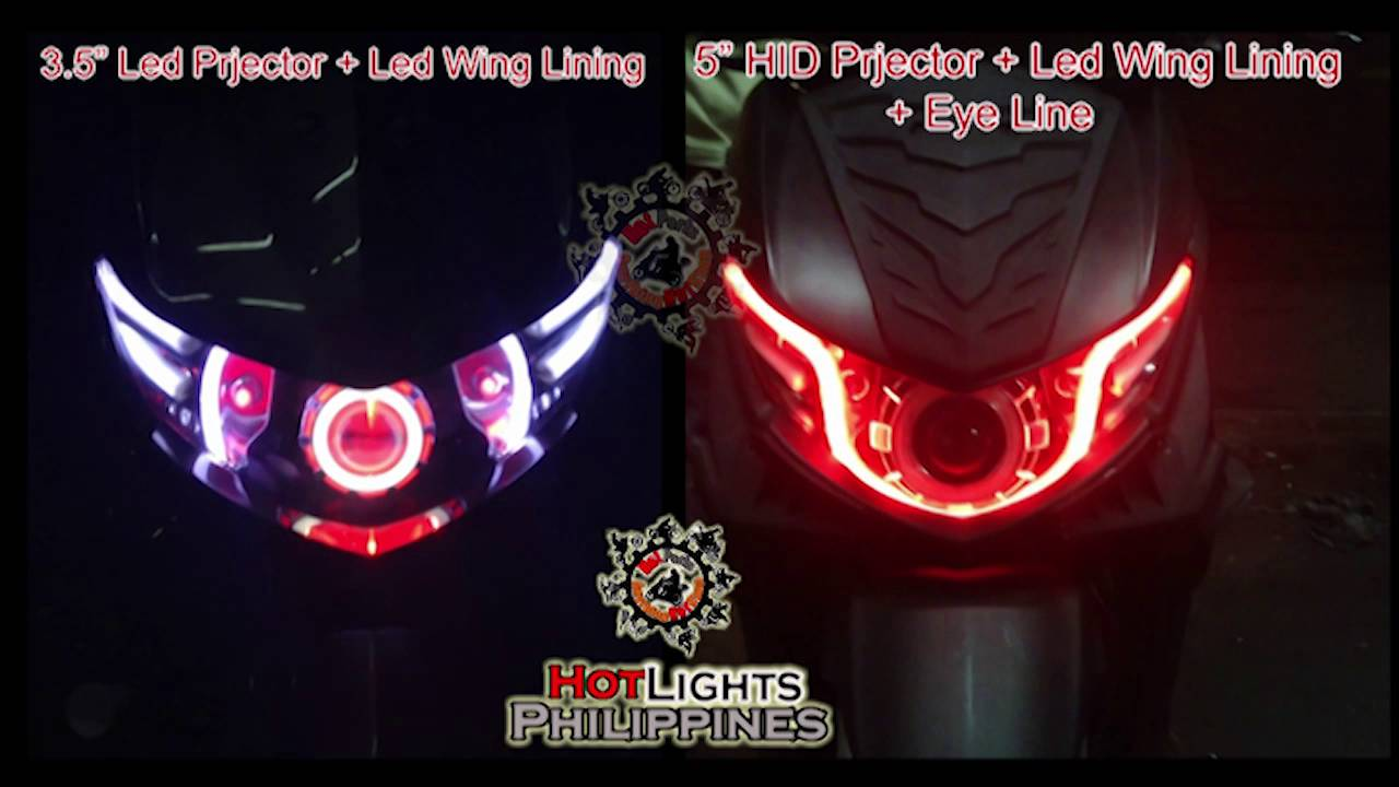 Angel eyes headlight for mio sporty-3575