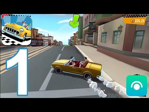 Crazy Taxi City Rush - Gameplay Walkthrough Part 1 - Downtown (iOS, Android)