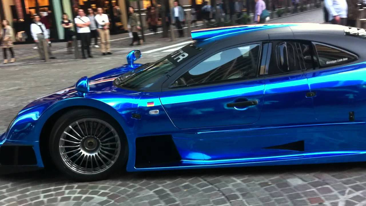 Insanely Loud Blue Chrome Mercedes Clk Gtr In Tokyo Turn Volume Max
