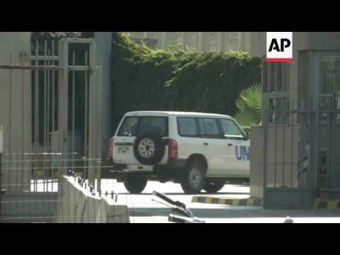Raw: UN Cars Enter Syria, Aid Stuck At Border