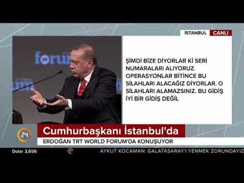 Cumhurbaşkanı Erdoğan TRT World Forum'da konuştu (19.10.2017)
