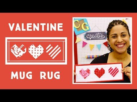 Paper Pieced Valentine's Day Mug Rug