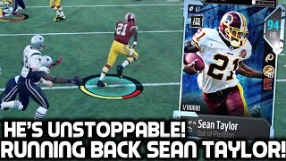 SEAN TAYLOR PLAYING RUNNING BACK! GREATEST KICK RETURN EVER! Madden 18 Ultimate Team