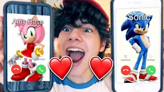 CALLING SONIC AND AMY ROSE AT THE SAME TIME!! *THEY LIKE EACH OTHER*