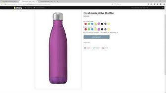Customizable Bottle Product - Infinite Live Preview Options, Shopify App - Webyze