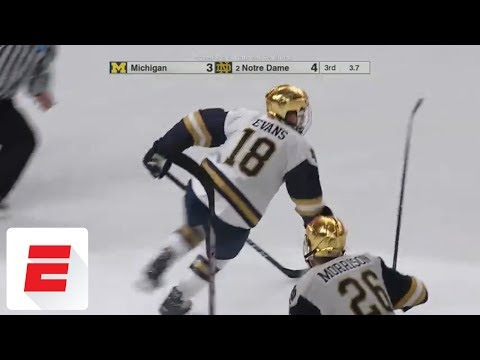Notre Dame scores goal with less than 5 seconds left to reach Frozen Four final | ESPN
