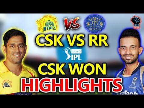LIVE MATCH:IPL 2018 Chennai Super Kings vs Rajasthan Royals Live Cricket Score:CSK-9/0