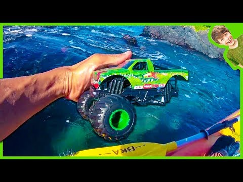 Monster Trucks Lost and Found at Sea Flashback!
