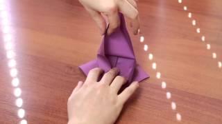 Журавлик из бумаги оригами
