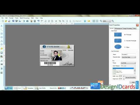 Free ID Cards Identity Card Badge Maker Software To Make School College Badges Freeware