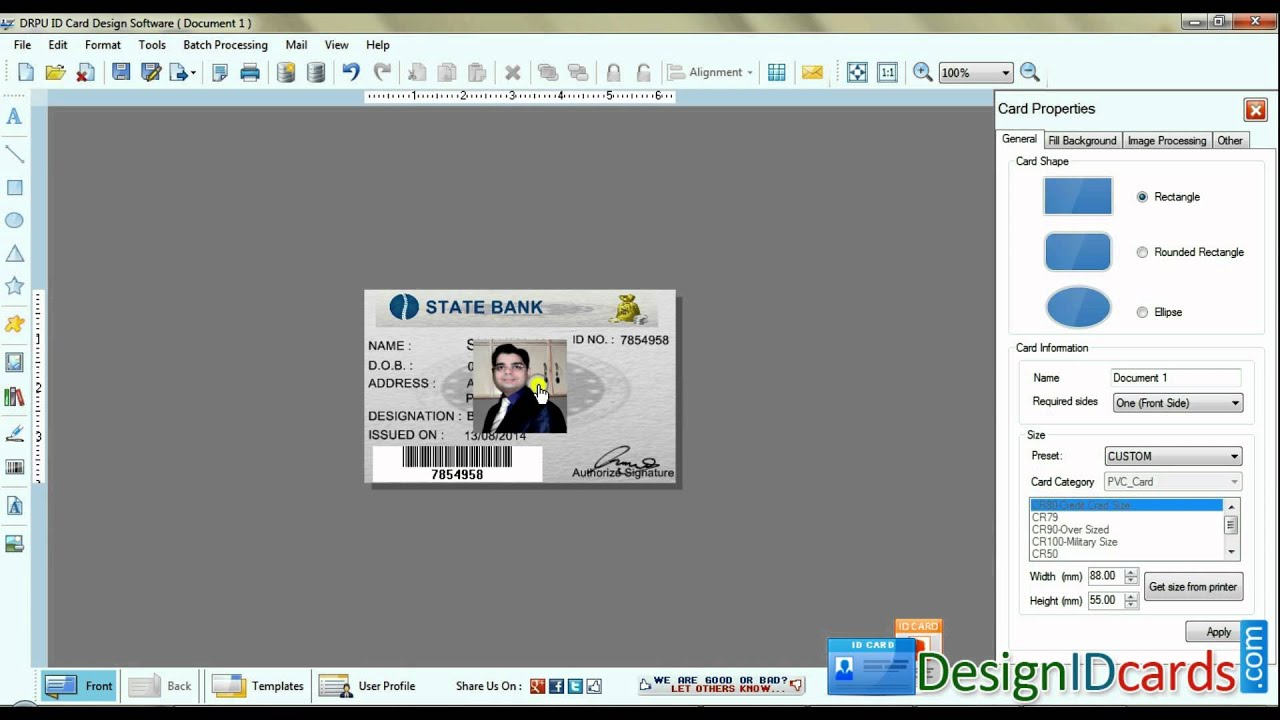 free id cards identity card badge maker software to make school