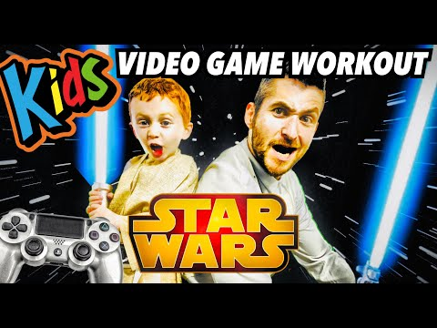 Kids Workout! STAR WARS! Real-Life VIDEO GAME! Kids Workout Videos, DANCE, FITNESS, & TOY SURPRISE!