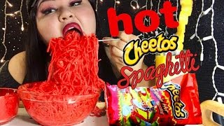 hot cheetos spaghetti mukbang wendy s eating show