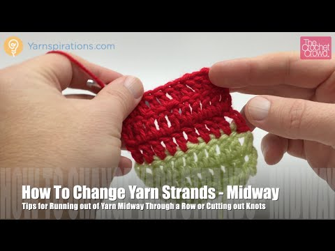 How to Change Yarn in Mid Row or Round Left Handed