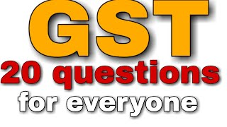 GST  Related 20 questions for examination SSC BANK RAILWAY Etc..