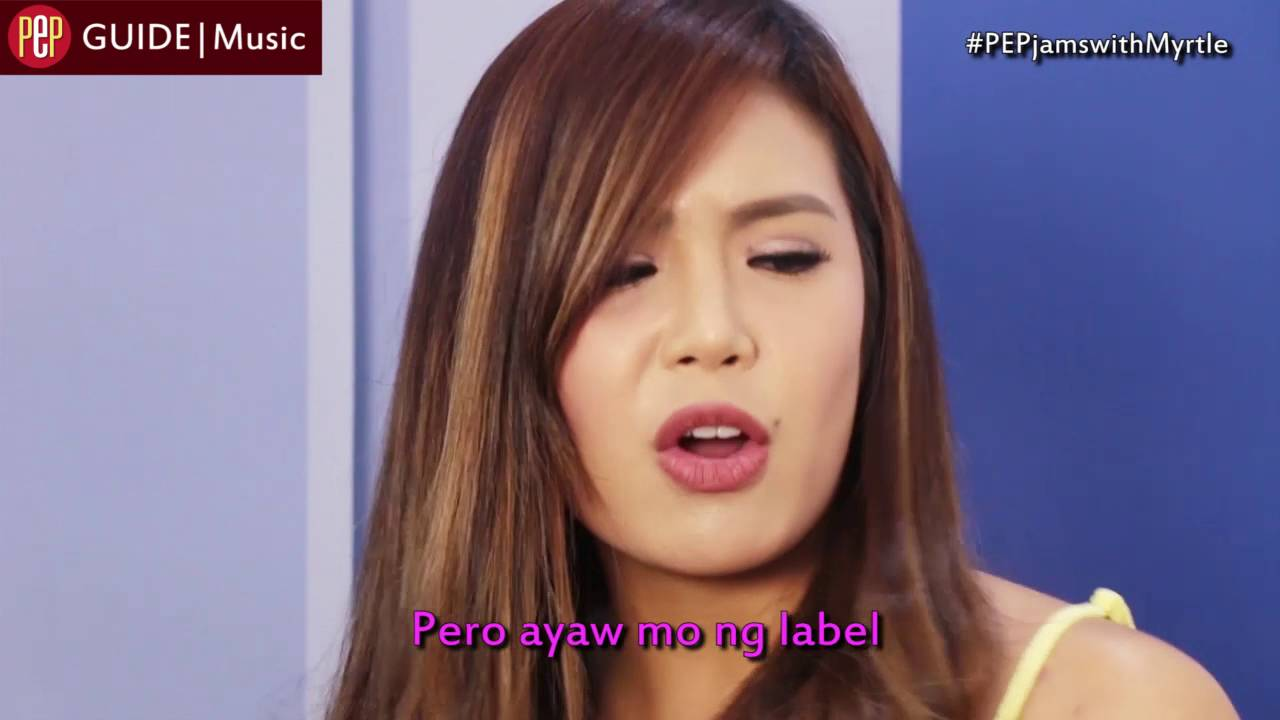 """Angeline Quinto Sex Scandal pep jams. sing along to """"label"""" with myrtle sarrosa"""