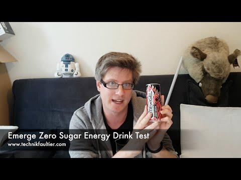 Emerge Zero Sugar Energy Drink Test