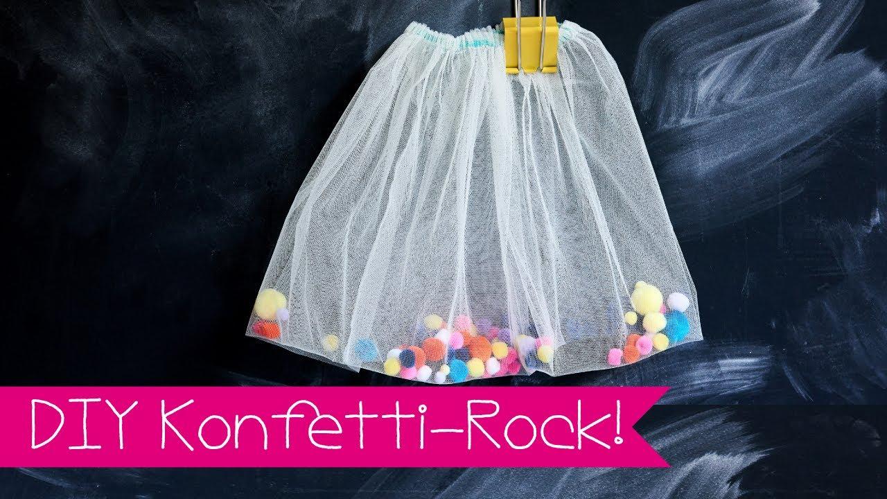 diy konfetti rock pompom rock selber machen youtube. Black Bedroom Furniture Sets. Home Design Ideas