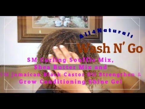6 DAY WASH N\' GO  SM Souffle, Shea Butter Mix & SM BJCO Gel | All4Naturals