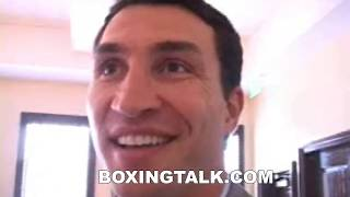 Interview with Wladimir Klitschko before Lamon Brewster rematch MUST SEE BOXINGTALK CLASSIC