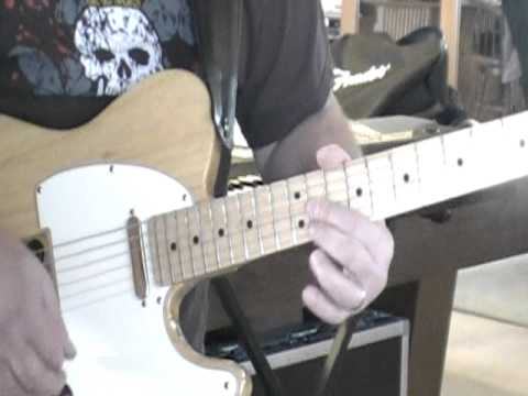 Rock guitar solo with keyboard loop