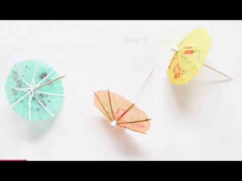 DIY Decor: How to Make a Paper Umbrella Garland
