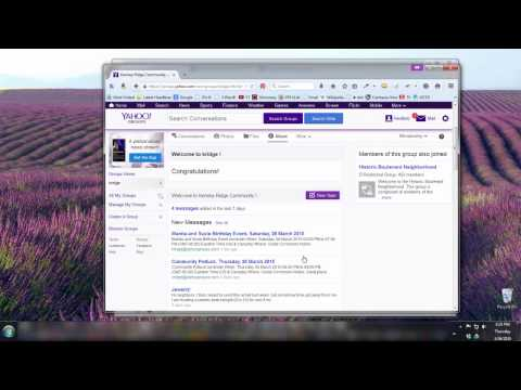 Basic Yahoo Group Invitation and Creating a Yahoo Account