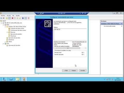 CLUSTER DHCP POR CONMUTACION POR ERROR EN WINDOWS SERVER 2012