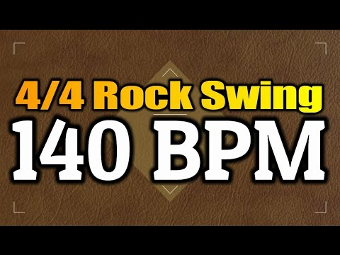 140 BPM - Rock Swing - 4/4 Drum Track - Metronome - Drum Beat