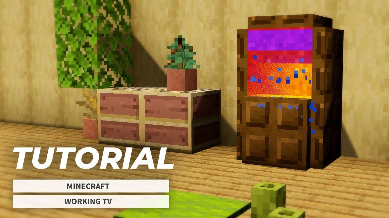 【マインクラフト家具】画面が動くテレビの作り方(内装建築)