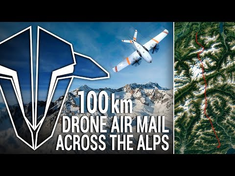 100km DRONE AIR MAIL ACROSS THE ALPS